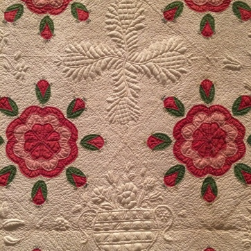Slaves, Morton Plantation, Kentucky. Whig Rose and Swag Border Quilt. c. 1850.