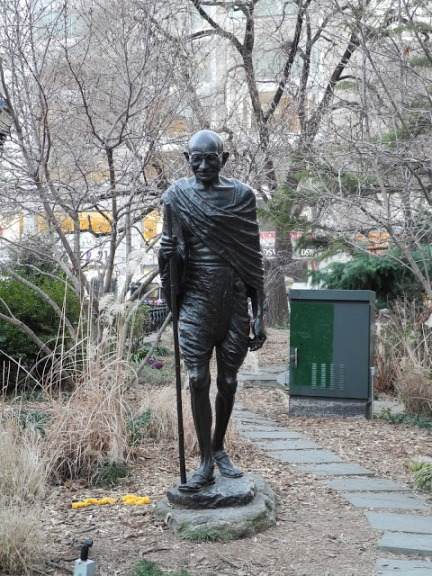 The Gandhi Memorial Statue in Union Square, New York City