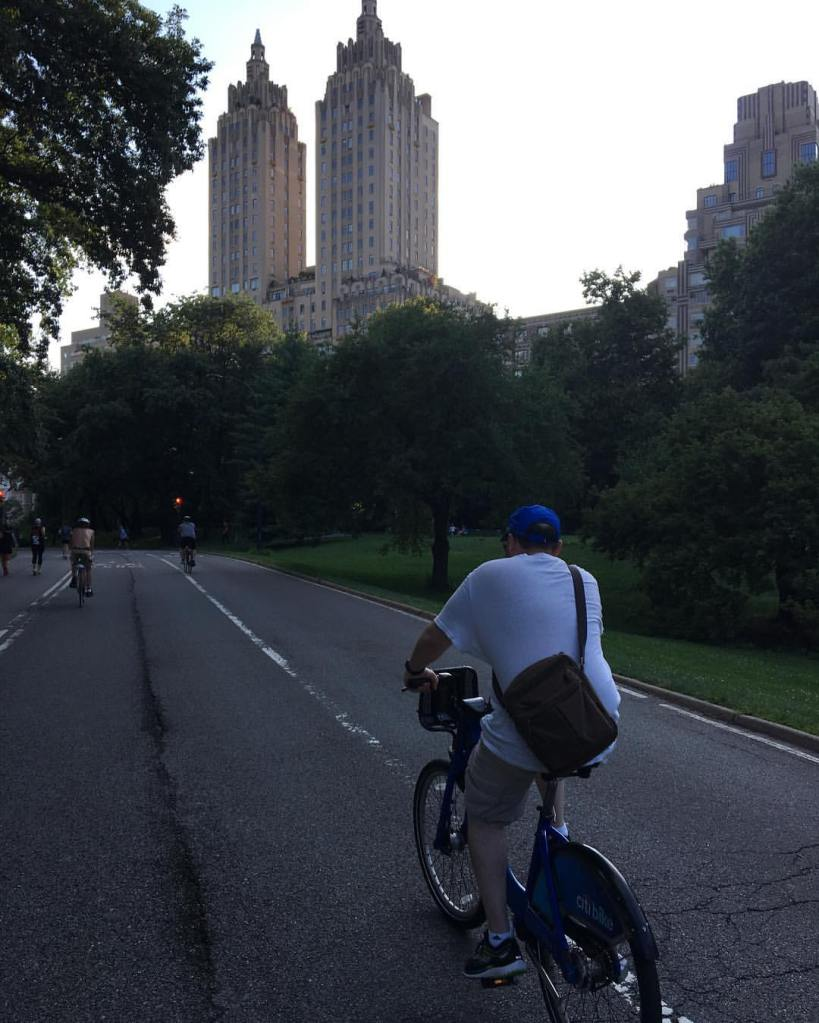 Here I am, rolling through Central Park, struggling a bit near the crest of a hill.