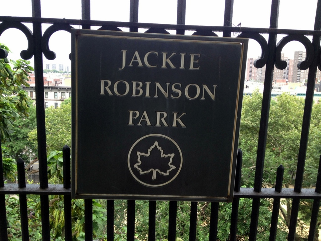 Jackie Robinson Park Sign on Edgecombe Avenue