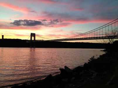 The George Washington Bridge and New Jersey Shore