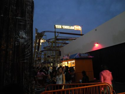A view of The Tickler from the ticket line.