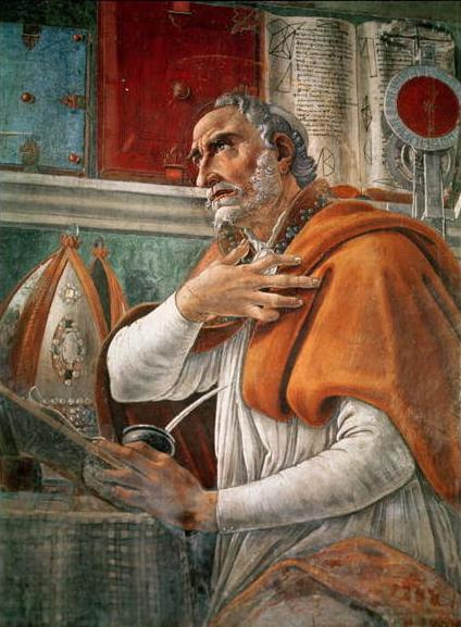 St. Augustine in his study.