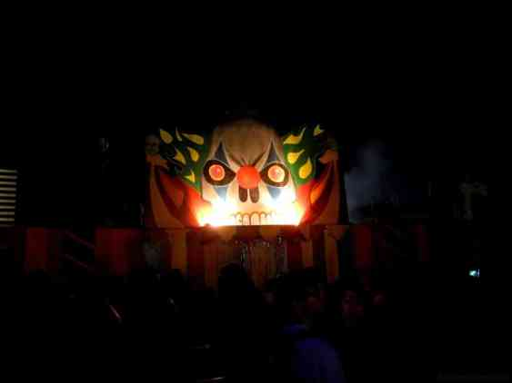 The entrance to one of the haunted mazes.