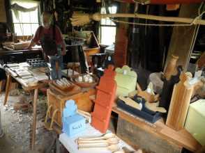Interior of the carpenter's shop.