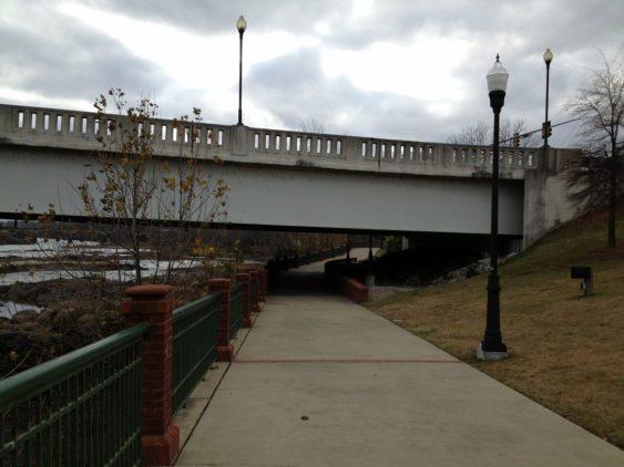 Chattahoochee River, River Walk, Phenix City side.