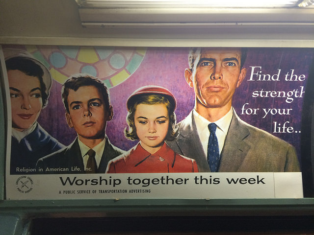 Vintage train advertisement.