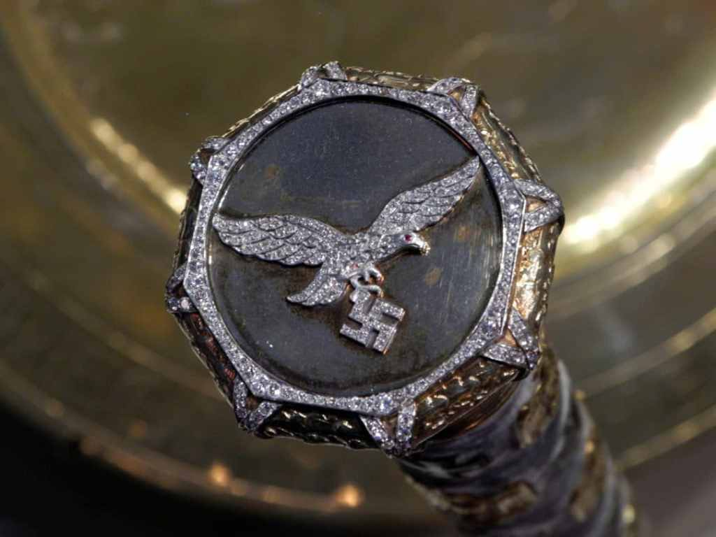 Hermann Goering's Nazi Baton, crusted in diamonds.