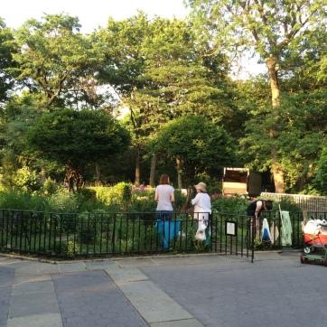 Riverside Park gardens.