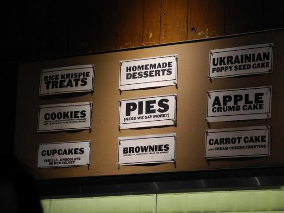Dessert board at Veselka's