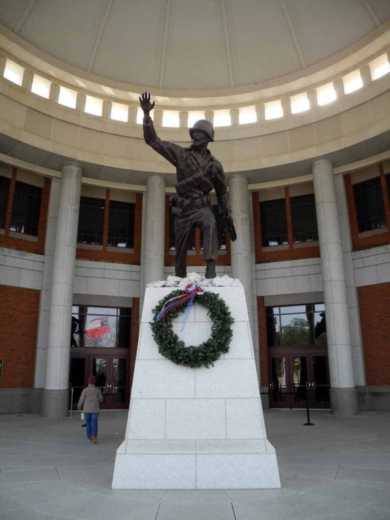 Statue at the front of the National Infantry Museum