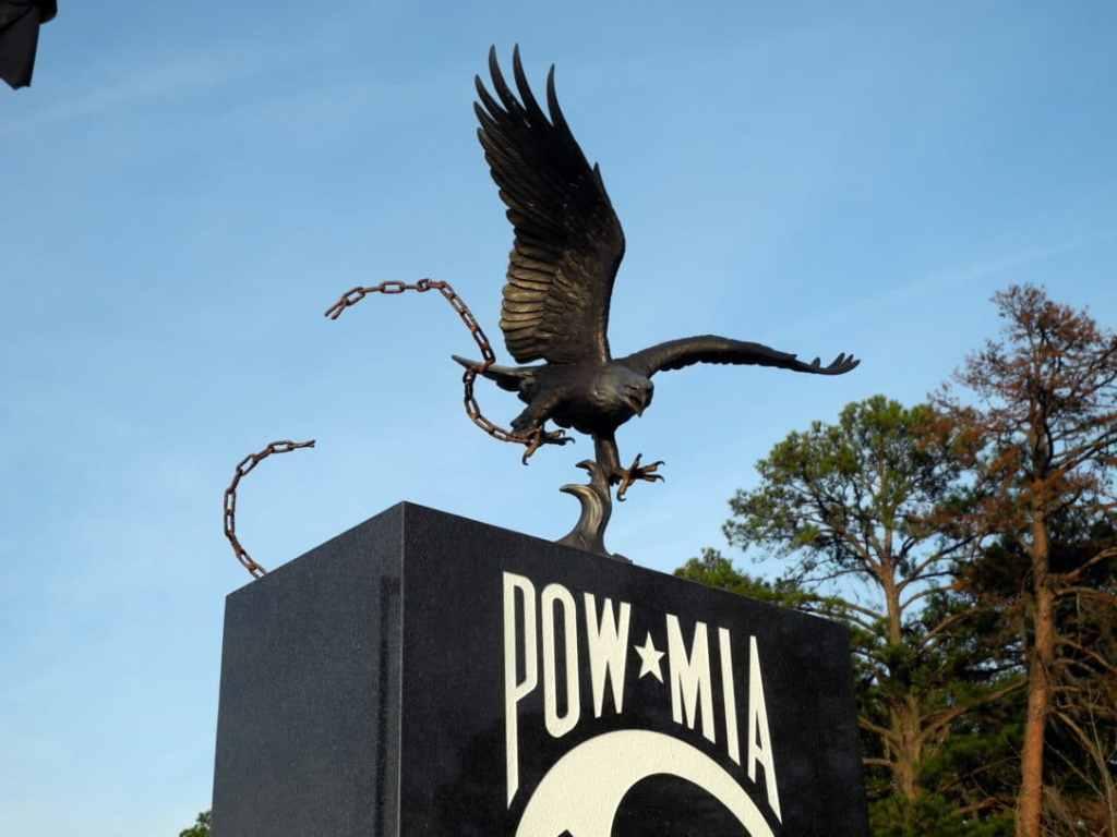 A POW - MIA memorial outside the NIM.