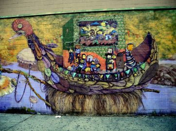 Wall Mural by Coney Island Train Station 1