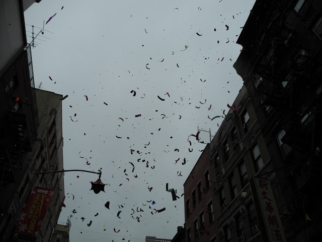 Flying confetti, Chinese New Year's 2012