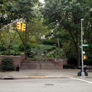 Jackie Robinson Park as seen from Bradhurst Avenue.