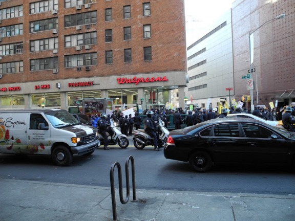 Large group of police at Union Square