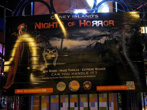 Poster for Coney Island's Nights of Horror