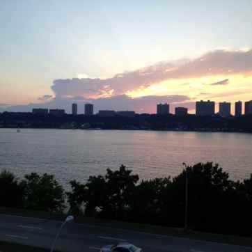 A view of New Jersey from Riverside Drive