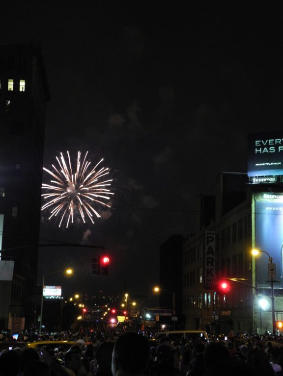 View of fireworks from 34th Street and 10th Avenue 2