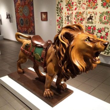 Marcus Charles Illions, Brooklyn, New York. Carousel Lion. 1910.