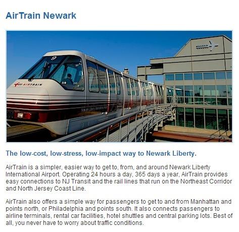 AirTrain Newark Description