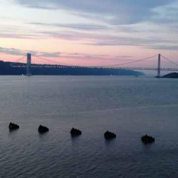 George Washington Bridge as seen from Riverbank Park