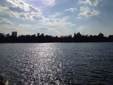 Jacqueline Kennedy Onassis Reservoir, from the East bank facing West.