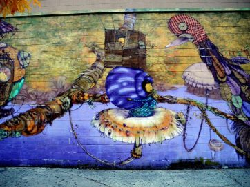 Wall Mural by Coney Island Train Station 2