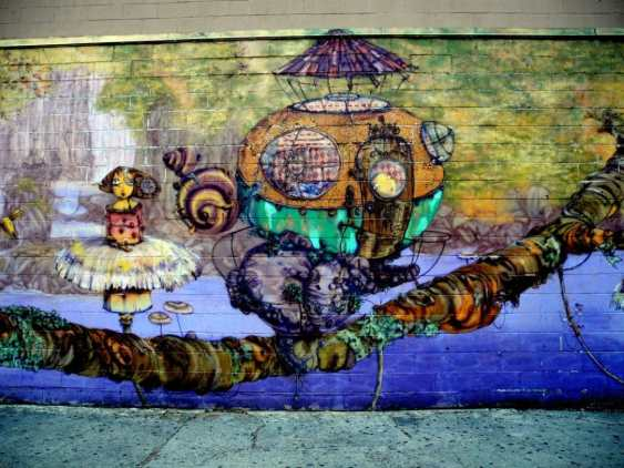 Wall Mural by Coney Island Train Station 3