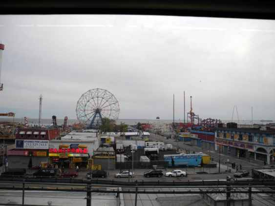 A View of Coney Island from the Q Train