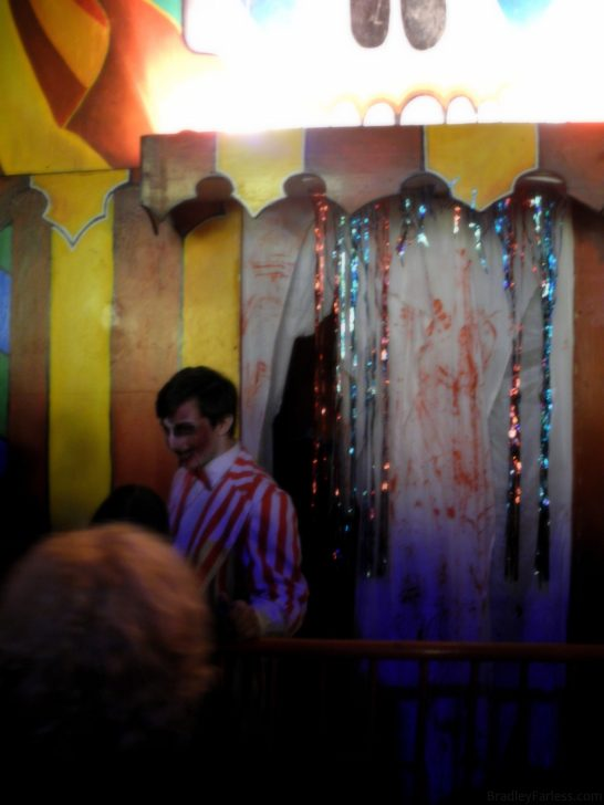 The 'gatekeeper' of the funhouse/haunted maze.