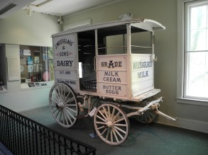 A dairy delivery cart.