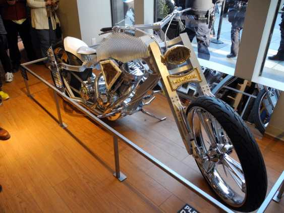 The 9/11 Memorial Motorcycle in the Gift Shop