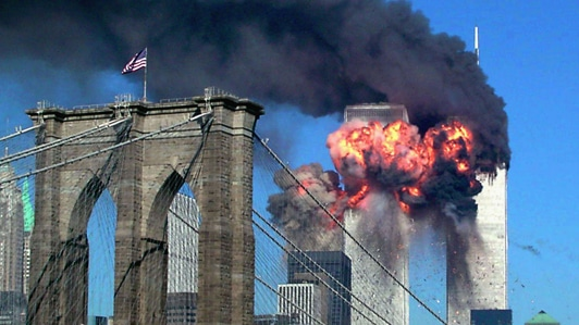 2001 attack and destruction of World Trade Center in New York City