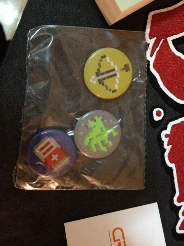 8-bit zombie survival game icon pins