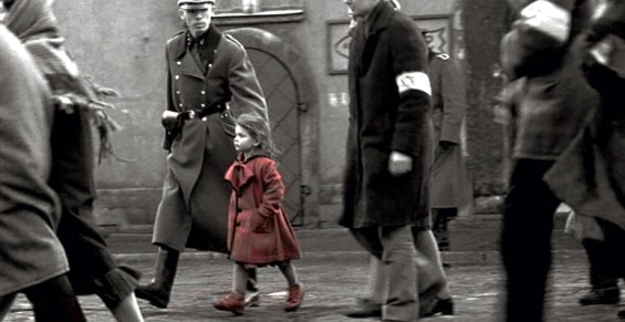 The girl in the red dress from Schindler's List