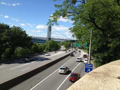 Highway near Yankee Stadium and Yeshiva University Exit