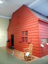 A Schenck house, rebuilt inside the museum.