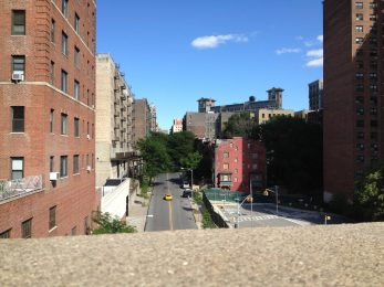 A view of 158th Street from Riverside Drive