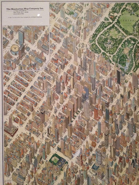 A 1985 map of Manhattan, by The Manhattan Map Company Inc.