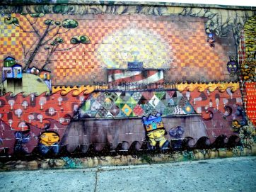 Wall Mural by Coney Island Train Station 6