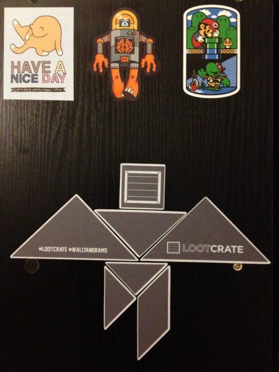 Loot Box Wall Tangrams, Mario/TMNT Mashup, Robot, and Cat Vs Human Stickers