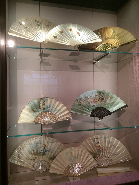A selection of Tiffany's fans.