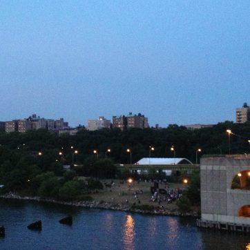 Looking back toward Manhattan from Riverbank Park