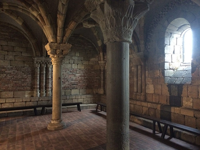 A sitting area in The Cloisters