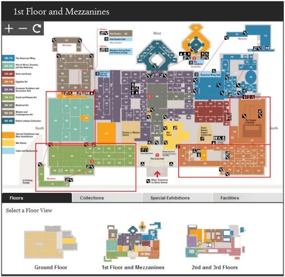 Metropolitan Museum of Art Map Floor 1