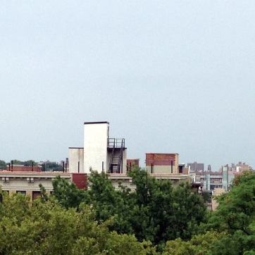 The view from Edgecombe Avenue, looking out over the park and into the city.