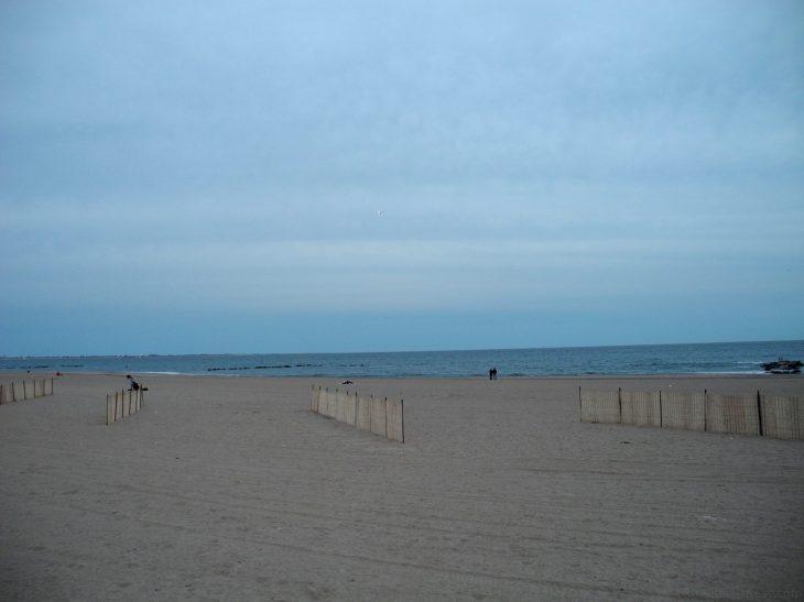 The beach at the Coney Island Boardwalk