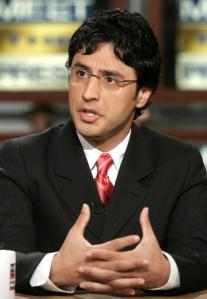 """Reza Aslan during a taping of NBC's """"Meet the Press"""" in 2005. (Photo by Alex Wong/Getty Images)"""