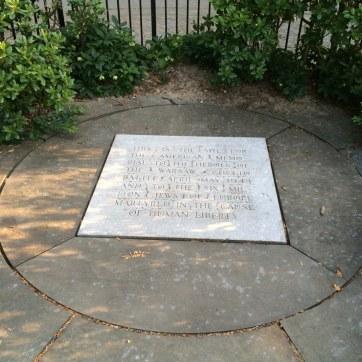 Warsaw Ghetto Uprising Memorial in Riverside Park